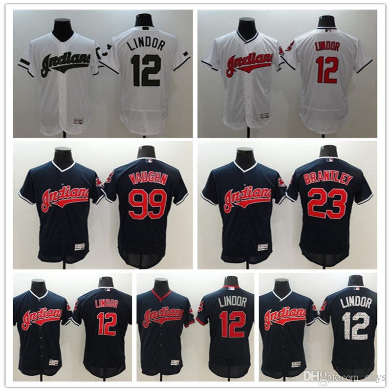 Cleveland Indians  12 Francisco Lindor 19 Bob Feller  22 Kipnis  23 ... 46304f35a