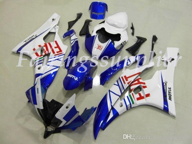 Nouveau (de moulage par injection) ABS Carénage Kits Fit For (Yamaha YZF-R6) 2006 2007 2006 2007 carénages R6 ensemble bleu blanc