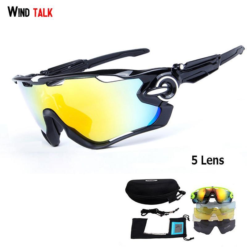 f5a01d9171 Wind Talk 5 Lens Mtb Bike Outdoor Sport Cycling Glasses Polarized ...