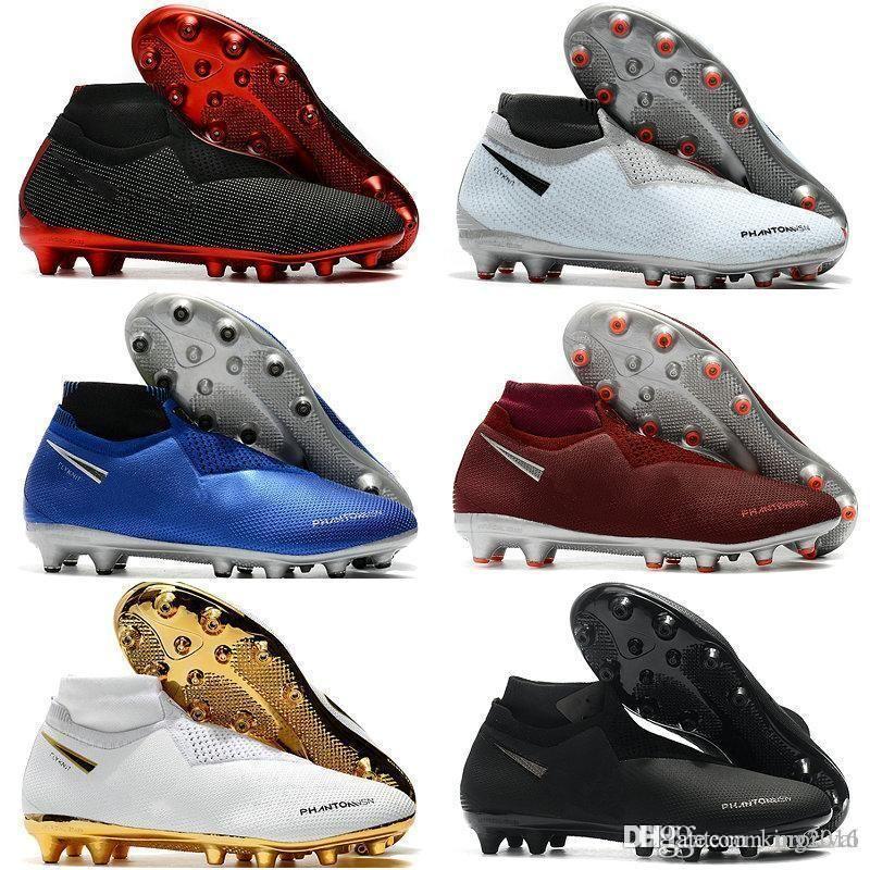 cf4f38702 2019 Mens Soccer Cleats Phantom VSN Elite DF AG Sock Outdoor Soccer Shoes X EA  Sports Phantom Vision Football Boots Scarpe Calcio Size 39 45 From  King2016