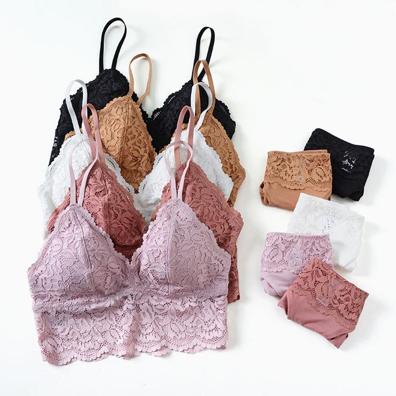 Wholesale Comfortable And Breathable Lingerie Women Underwear Brassiere  Sets Sexy Lace Vest Plus Size Bras Triangle Cup Bra Set Online with  55.35  Set on ... 8fc7532af