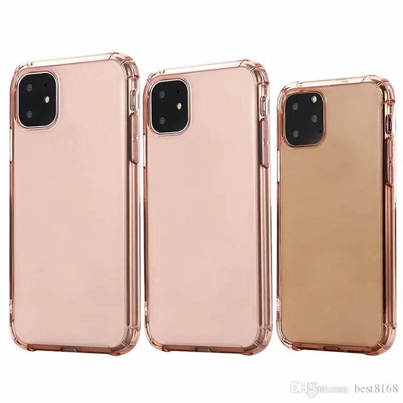 Clear Soft TPU Case For Iphone 11 New 5.8 6.1 6.5 inch 2019 Cell Phone Back Skin Rose Gold Shockproof Crystal Blank Luxury Silicon Cover
