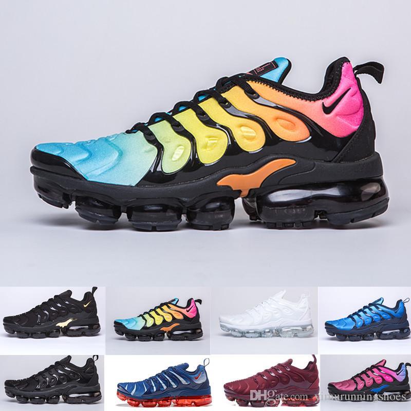 72faa4b0c2 Compre Nike Air Max Vapormax Airmax Nova Marca TN PLUS Homens Mulheres  Sapatos De Grife Preto Velocidade Vermelho Branco Jogo Royal Anthracite  Ultra Branco ...
