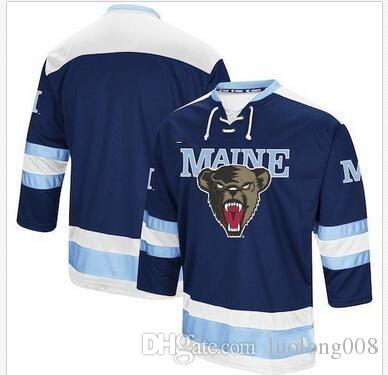 purchase cheap f5ff3 a0969 Rare Vintage Colosseum Maine Black Bears Hockey Jersey Embroidery Stitched  Customize any number and name Jerseys
