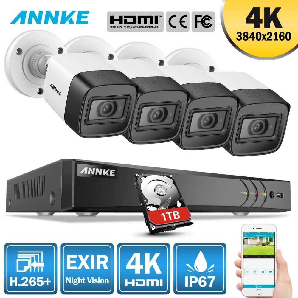 ANNKE 4K Ultra HD 8CH DVR H 265+ CCTV Camera Security System