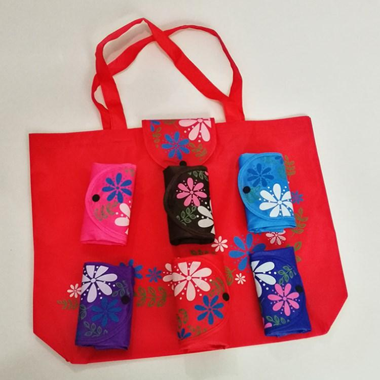Clasp Tote Bag Classic 210D Oxford Cloth Folding Shopping Bag ... a6962818ff635
