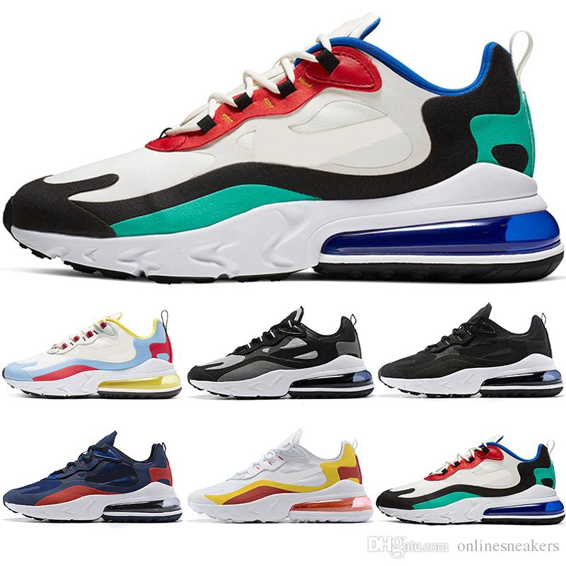 1ede8758cabdaf Scarpe Dimagranti Nike Air Max 270 React A Buon Mercato TN PLUS Uomo Donna  Running Shoes BE TRUE Giallo Triple Nero Bianco Oreo Volt Viola Uomo  Designer ...