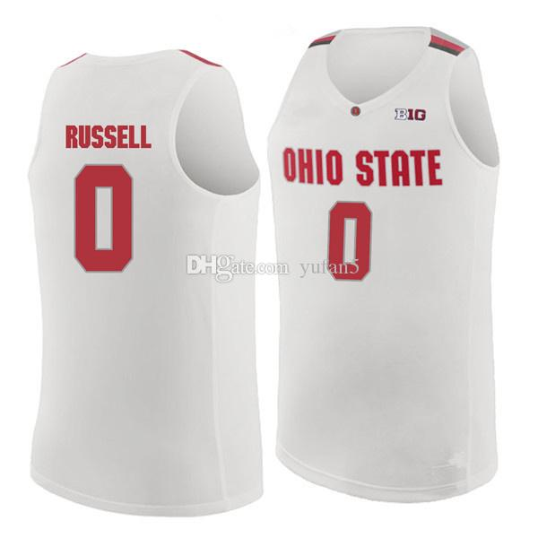 0cc8abfa #0 D'Angelo Russell ohio state Buckeyes College D Angelo Retro Classic Basketball  Jersey Mens Stitched Custom Number and name Jerseys. Store-wide Discount