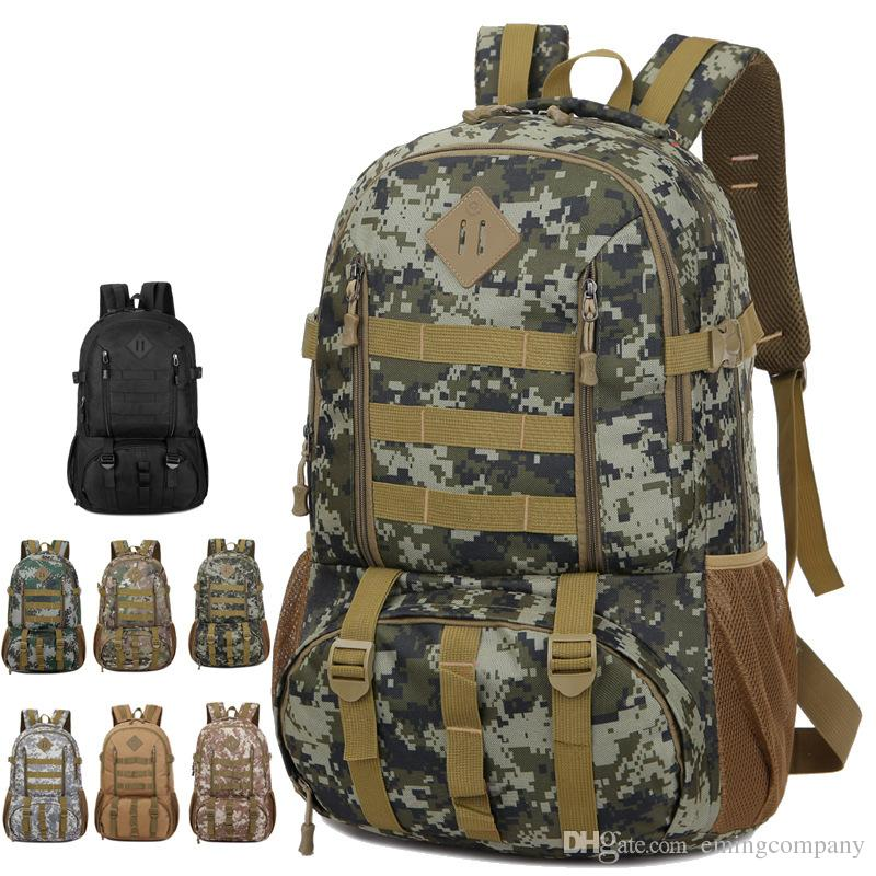 5aa8a26546 Hiking Camping Bag Army Military Tactical Outdoor Sports Camouflage ...