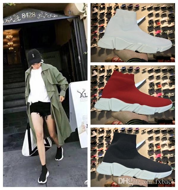 56610774297 Fashion Brand Designer Shoes Cheap 2019 Women Men Sock Shoes Speed Trainer  Sports Sneakers Top Boots Casual shoe mens 36-45