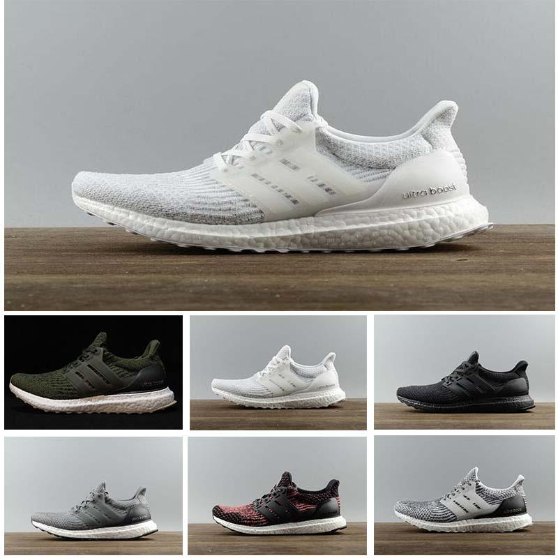 High Quality Ultraboost 3.0 4.0 Running Shoes Men Women Ultra Boost 3.0 III Primeknit Runs White Black Sports Sneaker 36-47
