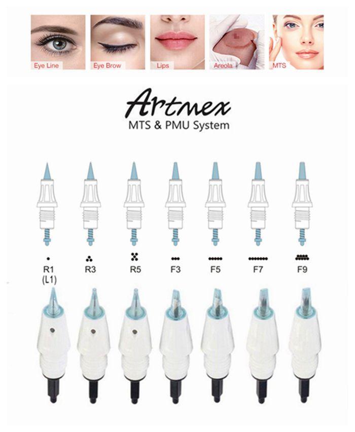نصائح خرطوشة الإبرة الصغيرة ل Artmex V8 V6 V11 V9 ماكياج الدائم آلة الوشم ديرما القلم MTS PMU العناية بالبشرة الجمال