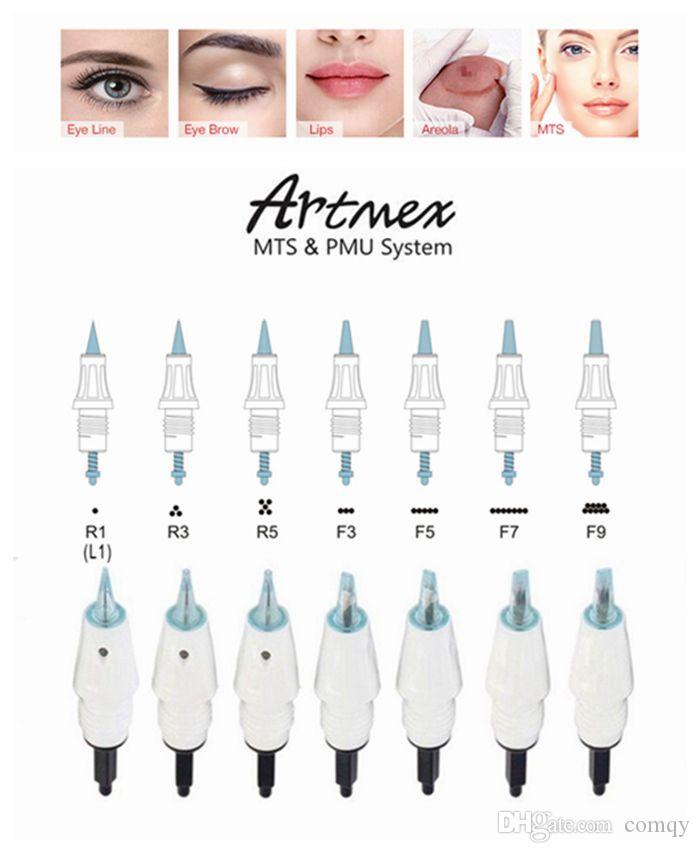 Conseils de cartouche micro-aiguille pour ArtMEX V8 V6 V11 V9 Maquillage permanent Machine de tatouage DERMA PEN MTS PMU Soins de la peau Beauté