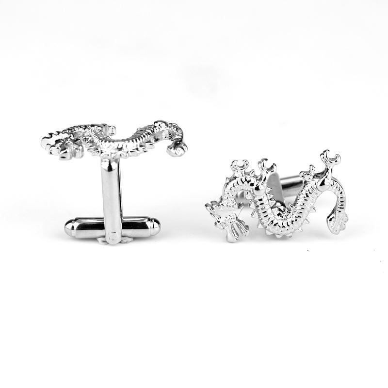 HANCHANG Fashion Cufflink Dragon Design Cufflinks Animal Copper Men French Shirt Accessories For Wedding Party Jewelry Gift
