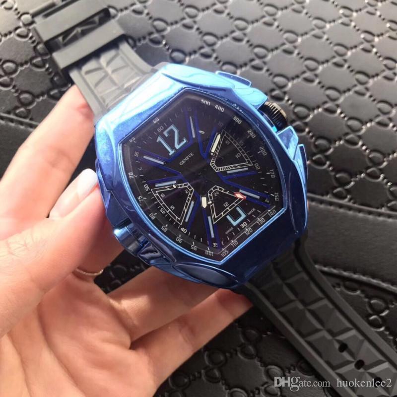 a3a9c7e1dbd Black Rubber Strap Men Women Sports Watch Mineral Full Diamond Bezel ...