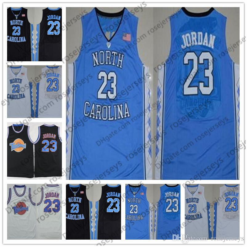 409580bfd342 2019 Vintage Michael Swingman Jerseys North Carolina Tar Heels 23 College  Basketball Black Pinstripe Chicago Red White Space Jam Film Movie From  Rosejerseys ...