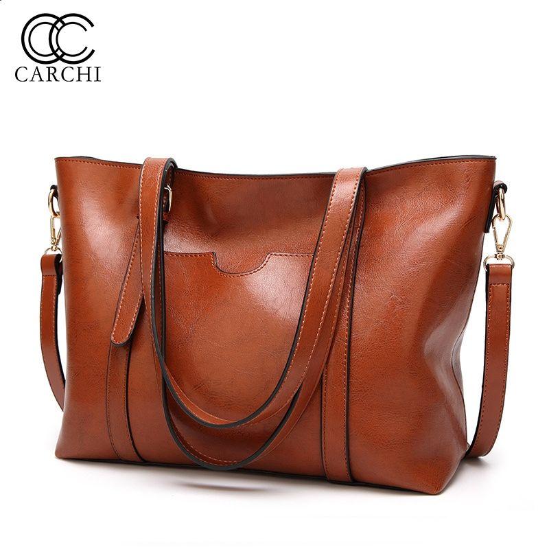 1db199844359 CARCHI Trend Leather Handbags Women Bag High Quality Casual Female  Crossbody Bags Tote Brand Ladies Shoulder Bag Bolsos Feminina  34508 Messenger  Bags For ...