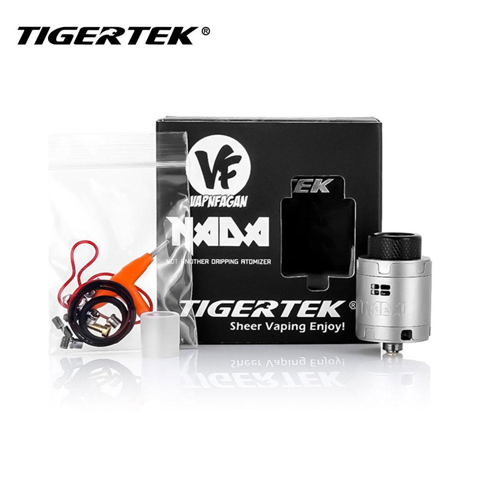 New Tigertek NADA RDA Tank 25mm Diameter 10mm Deep 3 Sets Air Plug Screws  Squonker RDA Tank with Low Profile 810 Delrin Drip Tip