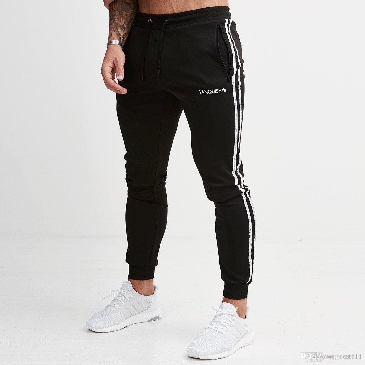 4bc5a596 2019 Jogging Pants Men Striped Sport Sweatpants Running Pants GYM Men  Cotton Long Pants Fitness Jogger Bodybuilding Trouser From Best114, $45.69  | DHgate.