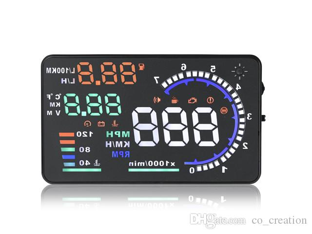 Best Selling Car Electronics A8 OBD2 5.5 Inch A8 gps HUD Heads Up Display Car OBD Diagnostic Cars Speed Indicator