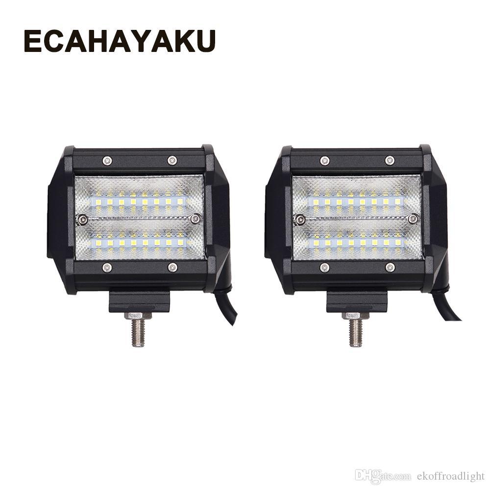 ecahayaku 2x led light bar 48w 4 work light for tractor boat off