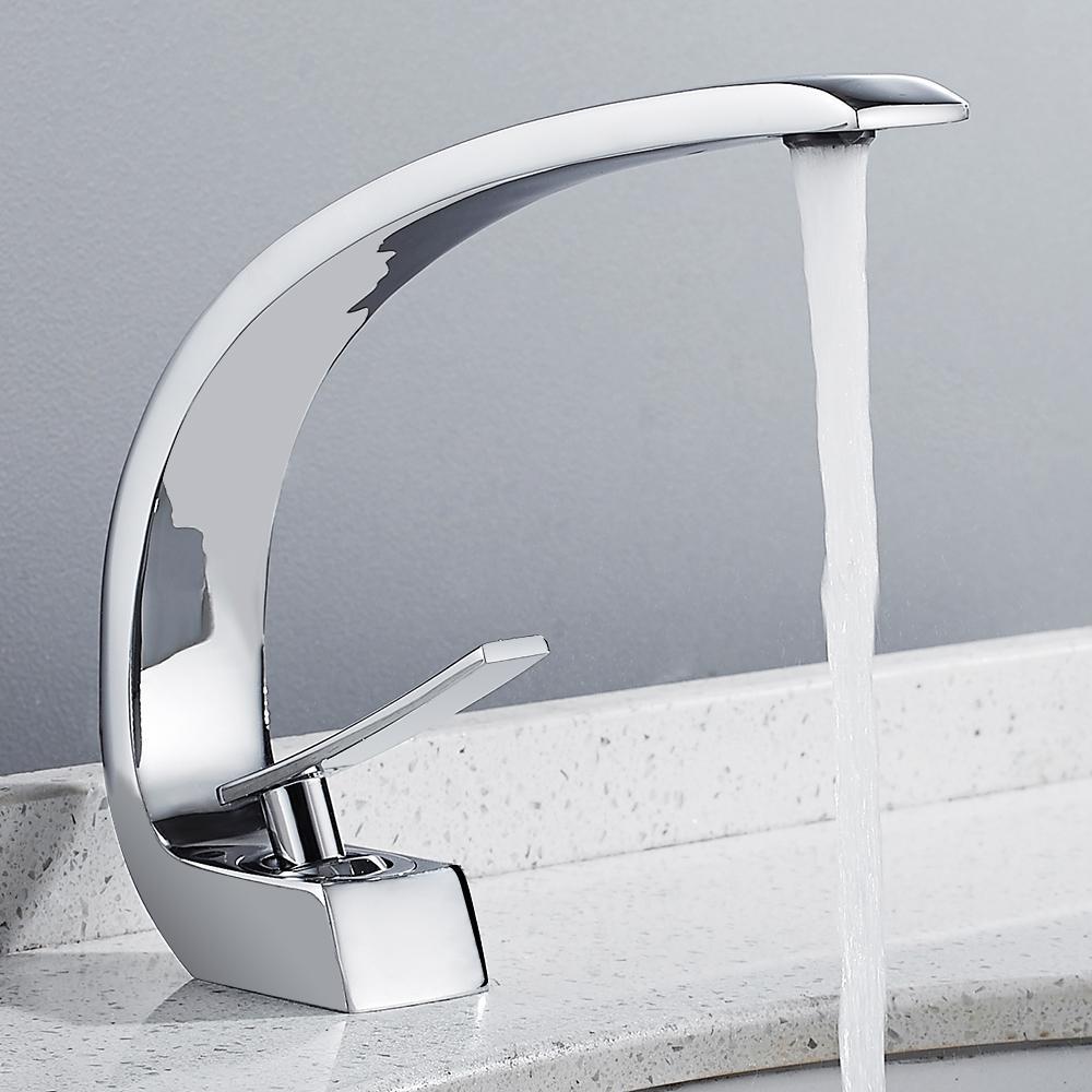 Acheter nouveau bain robinet lavabo robinet laiton chrome robinet lavabo vier nickel robinet - Robinet lavabo salle de bain ...