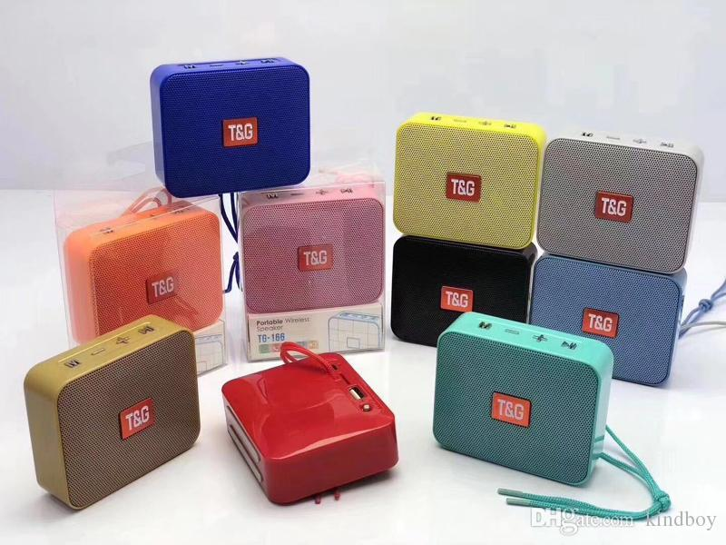 TG166 Mini Speaker Bluetooth Stereo Speakers Wireless Portable Soundbox Outdoor Sports Hiking Loudspeaker TG166 BT5.0 5W Amplifer