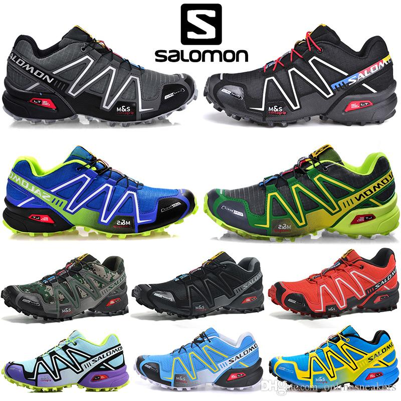 Salomon Speed Cross 3 CS Mens Women Running Shoes SpeedCross Outdoor Walking Sneaker Black White Red Men Sports Size 36 46 Online Sale