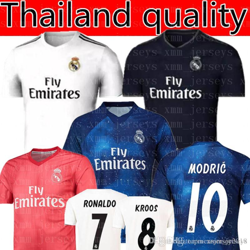Real Madrid RONALDO  7 MBAPPE  10 Soccer Jerseys 2019 Real Madrid ISCO  22  RAMOS RONALDO BENZEMA MODRIC Football Shirt WOMEN Man Kids Kits UK 2019  From ... f47dcfcac