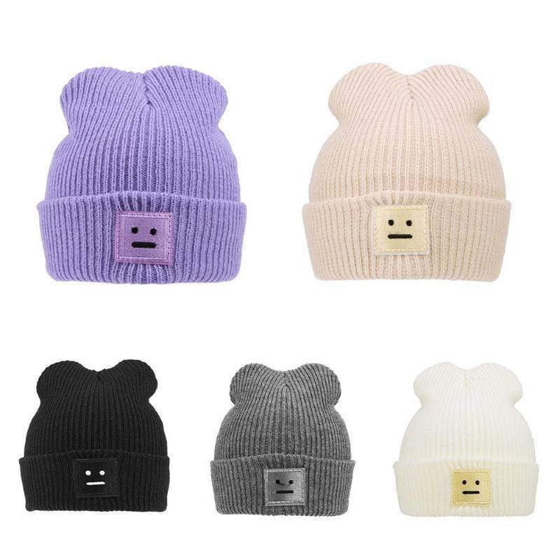 c211a5a135d 2019 New Baby Toddler Kids Boys Girl Knitted Caps Cute Hats Crochet Winter  Warm Hat Newborn Cute Winter Baby Hat Fur Ball Pompom Cap From Lou88