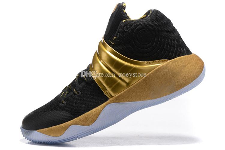 buy online b8f45 c1066 Cheap Mens Kyrie Irving 2 Outdoor shoes Gold Black green bhm christmas  Easter white air flights sneakers boots tennis for sale