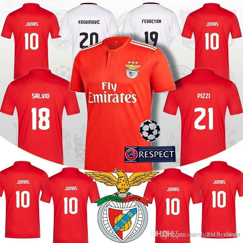check out a705c 8fa9a Jonas 10 Benfica soccer jersey SALVIO 18 ELISEU 19 Football Shirts jersey  KALAICA SEFEROVIC GABRIEL ZIVKOVIC 21 PIZZI