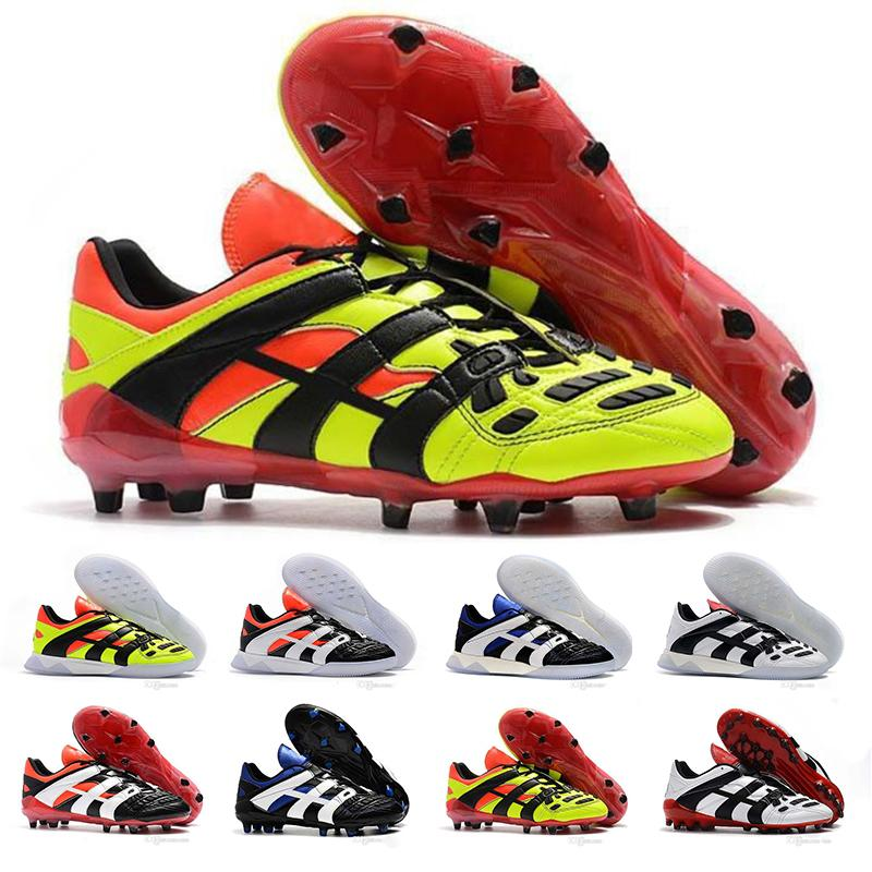 f20cabae6a3e Predator Accelerator Electricity Mens FG Top Quality Cut Beckham Becomes Predator  Football Boots Cleats Crampons Designer Sneaker Eur39 46 Blue Shoes Clogs  ...