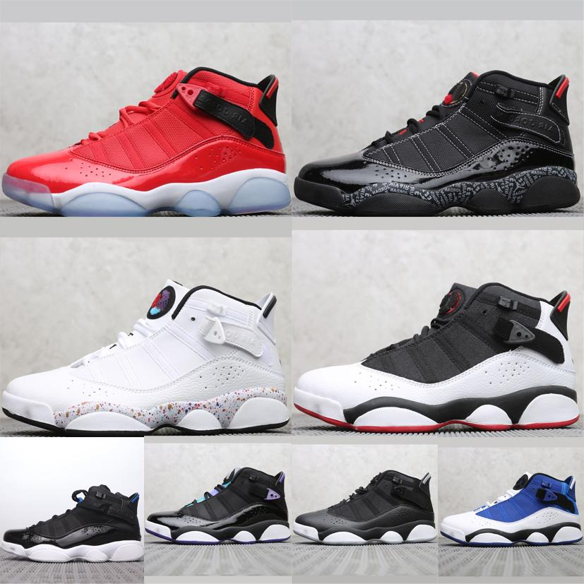 brand new ccb4d b1313 Cheap Mens Jumpman 6s rings basketball shoes retro aj6 for sale Blue White  Black Red Purple 13s PRM kids air flights sneakers boots with box