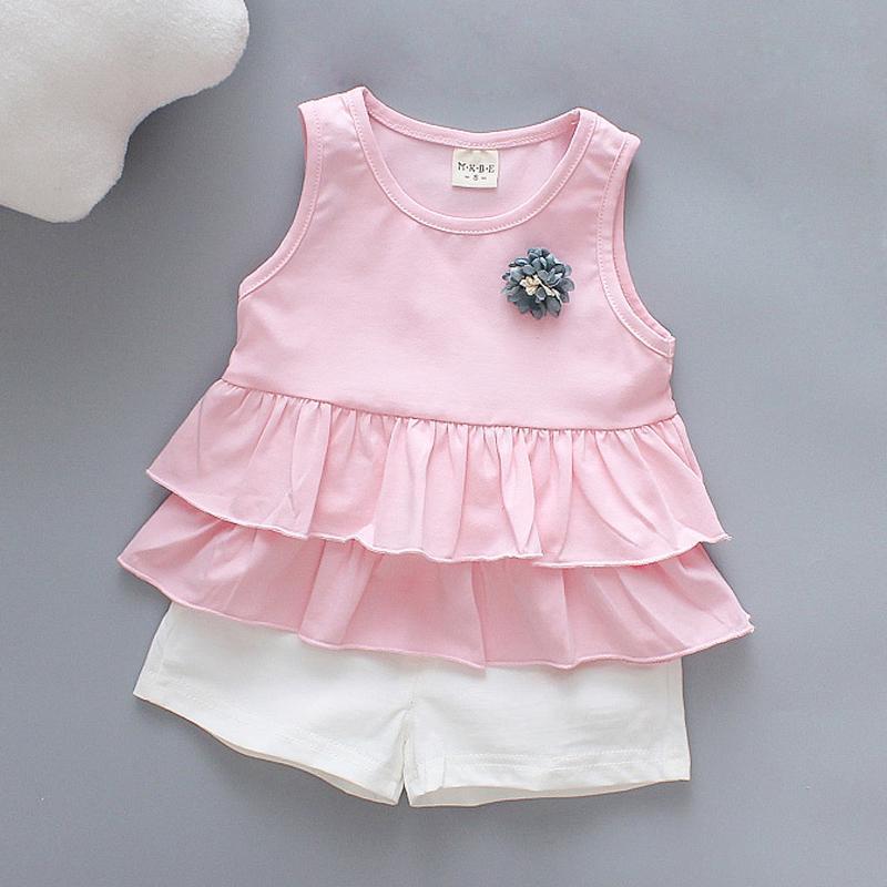 1c420482b Compre Buena Calidad De Verano Para Bebés Ropa Para Bebés Conjuntos Faldas  Casuales + Trajes Cortos Para Niñas Trajes De Fiesta De Bodas De Moda Para  Bebés ...