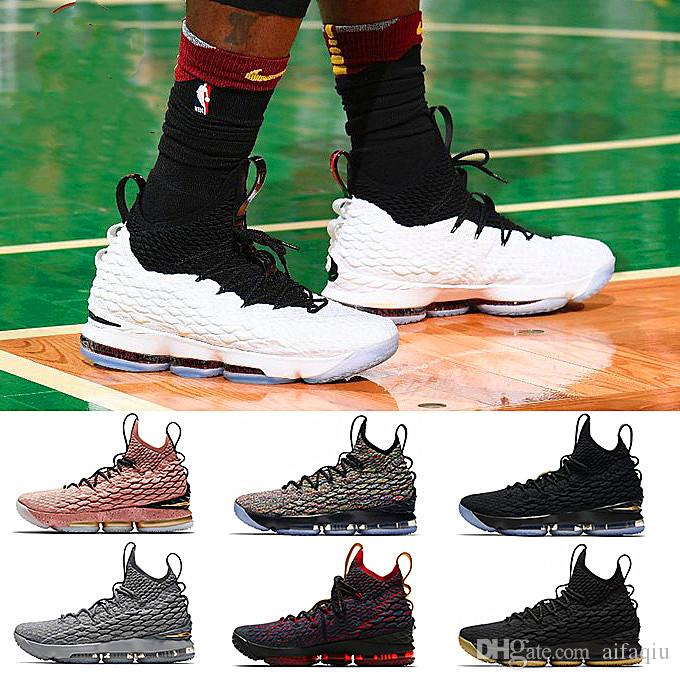 reputable site 3b1ab 0019f 2019 High Quality Newest Ashes Ghost Lebron 15 Basketball Shoes Arrival  Sneakers 15s Mens Casual 15 King James sports shoes LBJ EUR 40-46
