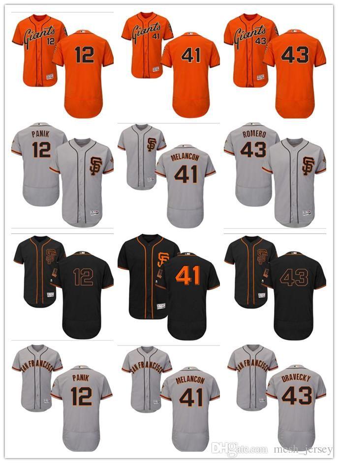 69a82136244 2019 Custom Men Women Youth SF Giants Jersey  12 Joe Panik 41 Mark Melancon  43 Dave Dravecky Home Orange Grey White Kids Baseball Jerseys From  Wddsport