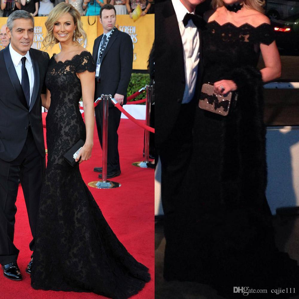 d9bb30d3e74 Black Lace Evening Gowns Inspired by Stacy Keibler Mermaid Off the ...