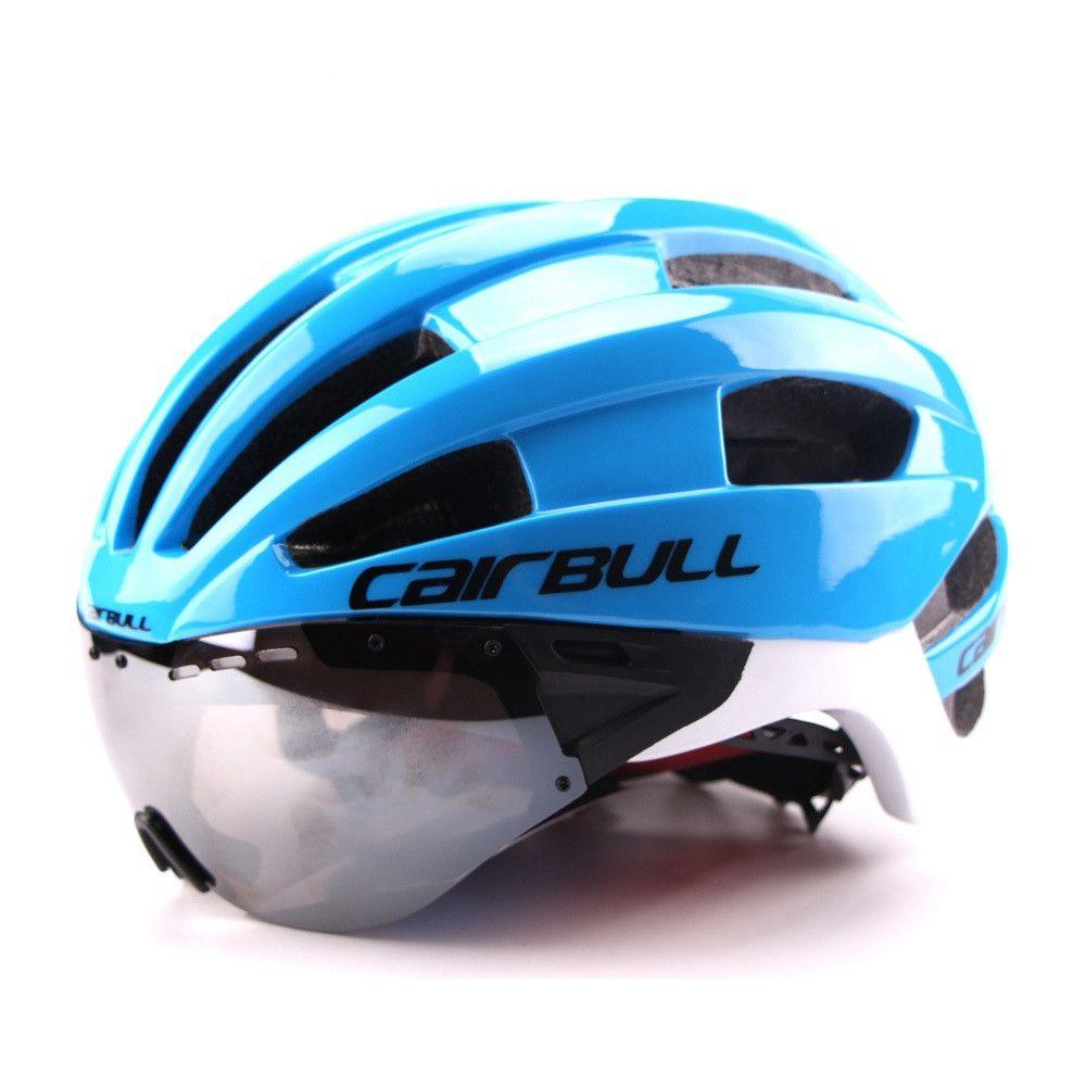Ultra-light 235g Goggles Cycling Helmet Road Mountain MTB Bicycle Helmet In-mold Bike Helmet With Sun Visor Helmet M54-58cm (6)_