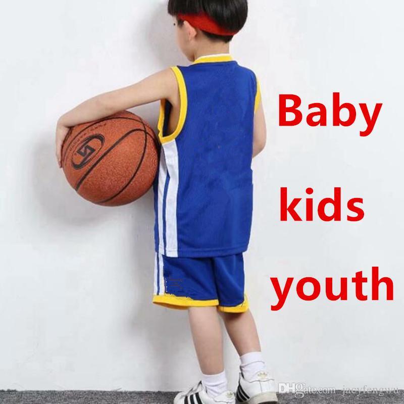 eed3110e1 Designer Kids Clothing Sets Boys Girls Youth Sports Basketball Jerseys  Children Tracksuits Shirts + Shorts Printed No Fading 75-165 XZT034B