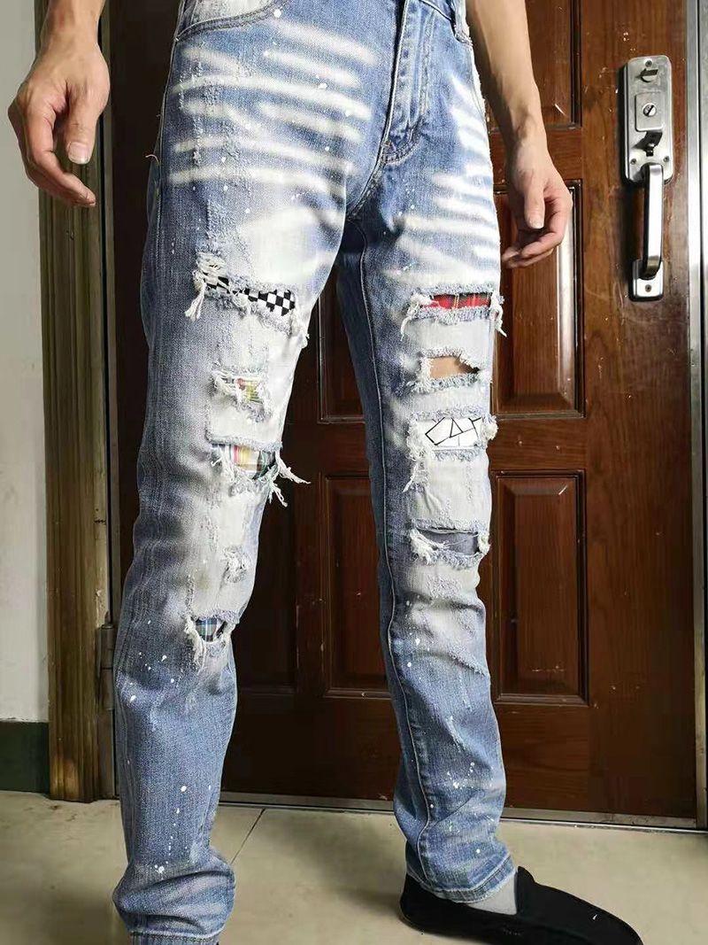 2019 Men Skinny Biker Jeans Brand Designer Slim Fit Mens Motorcycle