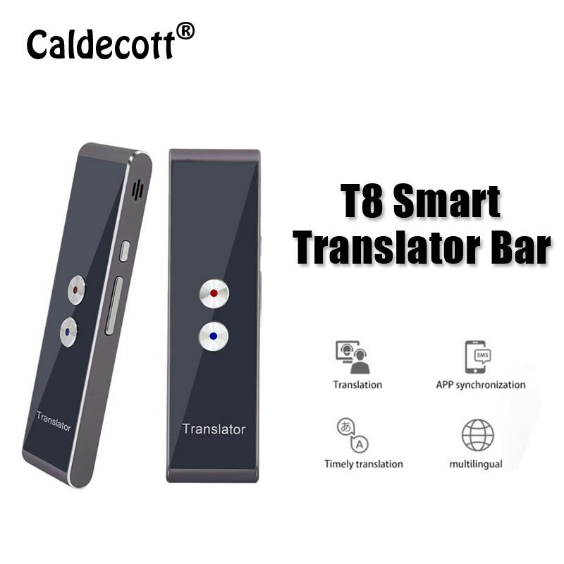 New Portable T8 Smart Voice Speech Translator Two-Way Real Time 30  Multi-Language Translation For Learning Travelling Business