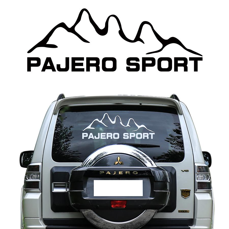 2019 customize for mitsubishi pajero sport stickers car tail windon mountains styling graphic vinyls accessories modified decals from baixiangguo