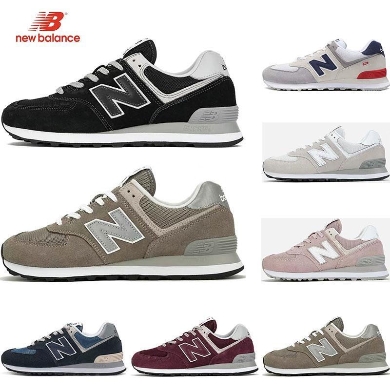 new balance 2019 chaussures de course Designer 574 pour hommes triple noir blanc rose vin Sneakers de sport féminin formateur respirant vintage mode