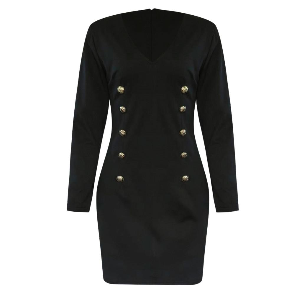 10690b779324c0 2019 New Arrival Women Long Sleeve Double Breasted Long Sleeve Blazer Dress  In Stock Dropshipping Cocktail Dress Evening Gowns From Jingju