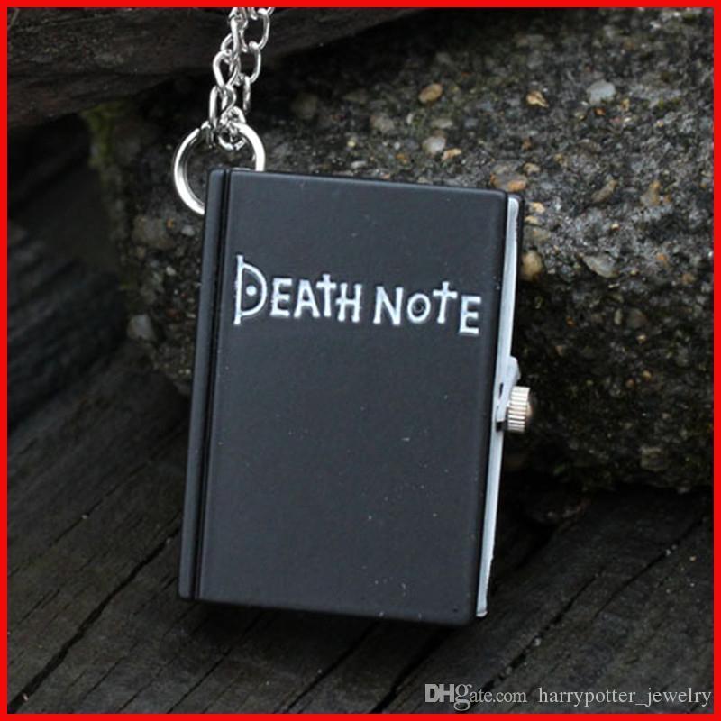 78b9d1cc30d Fashion Death Note Pocket Watch Black Bronze Square Notebook Book Pendant  Necklace Quartz Watches For Men Women Christmas Gift 230146 Automatic  Pocket Watch ...