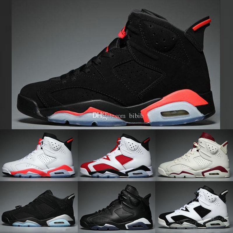 4b71fe20a6e 2019 Jumpman 6 6s Men Kids Basketball Shoes Oreo Black Cat Gatorade Tinker  Hatfield Maroon Luxury Designer Sneakers VI Sport Women Shoes Baby Shoes  Buy ...