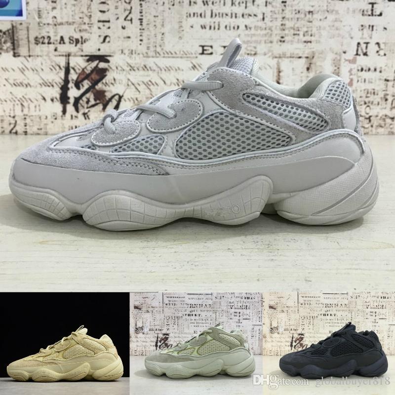 Adidas Yeezy 500 air jordan off white vapormax nd basketball slipper sandel red bottoms designer shoes men Super Moon Gelb Freizeitschuhe Kanye West