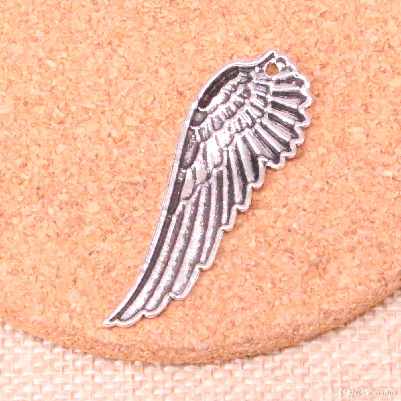 52pcs Charms angel wings Antique Silver Plated Pendants Fit Jewelry Making Findings Accessories 50*17mm