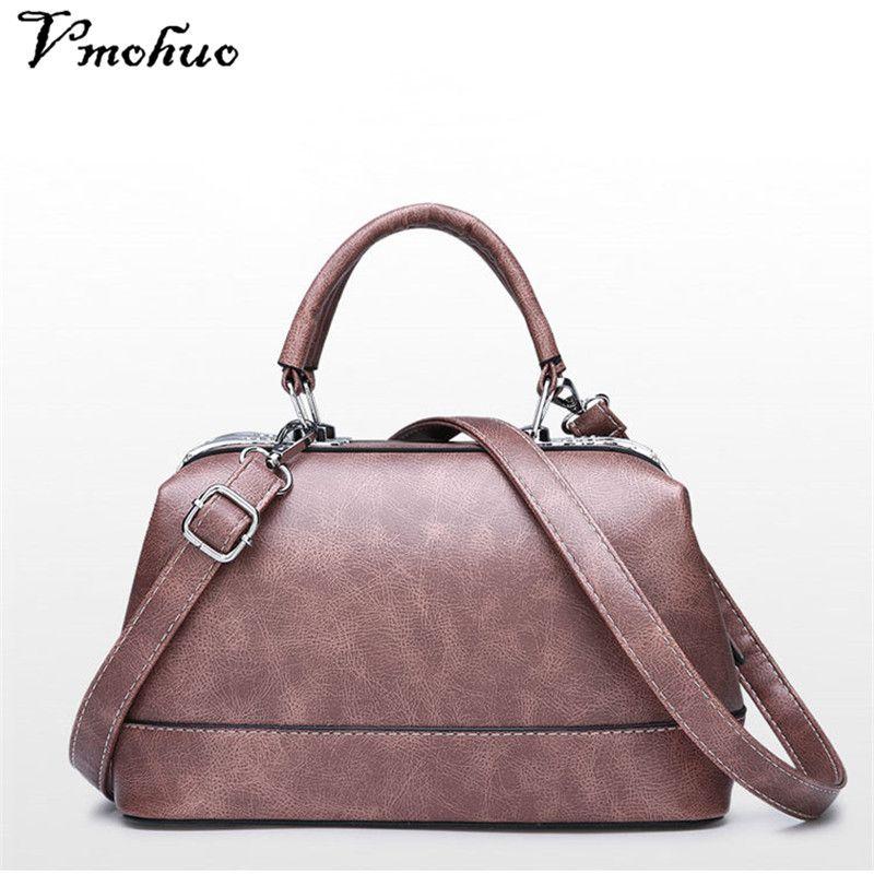 2175683777 VMOHUO Women Leather Handbags Vintage Messenger Bag Women s Shoulder ...